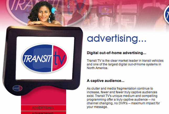 Transit TV homepage Clipping