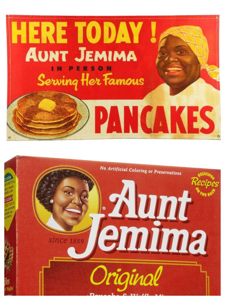 old and new versions of aunt jemima